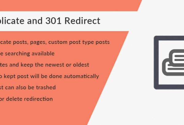 Solwin Infotech Wordpress Extension: Trash Duplicate and 301 Redirect WordPress Plugin