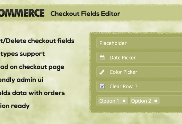 Wordpress Plugin: WC Checkout Fields Editor WordPress Plugin