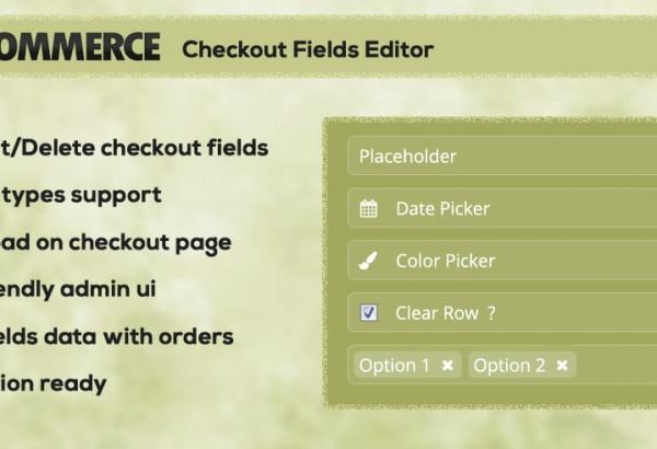 Solwin Infotech Wordpress Extension: WC Checkout Fields Editor WordPress Plugin