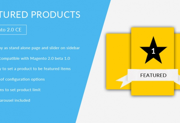 Magento Extension: Featured Products - Magento 2 Extension