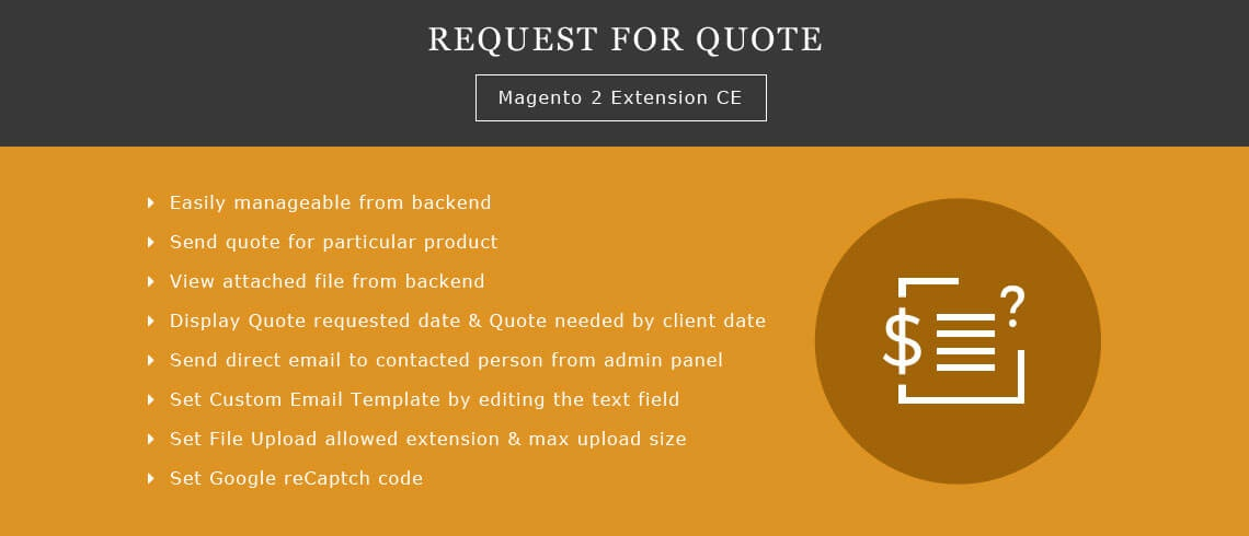 Solwin Infotech Magento Extension: Request for Quote – Magento 2 Extension