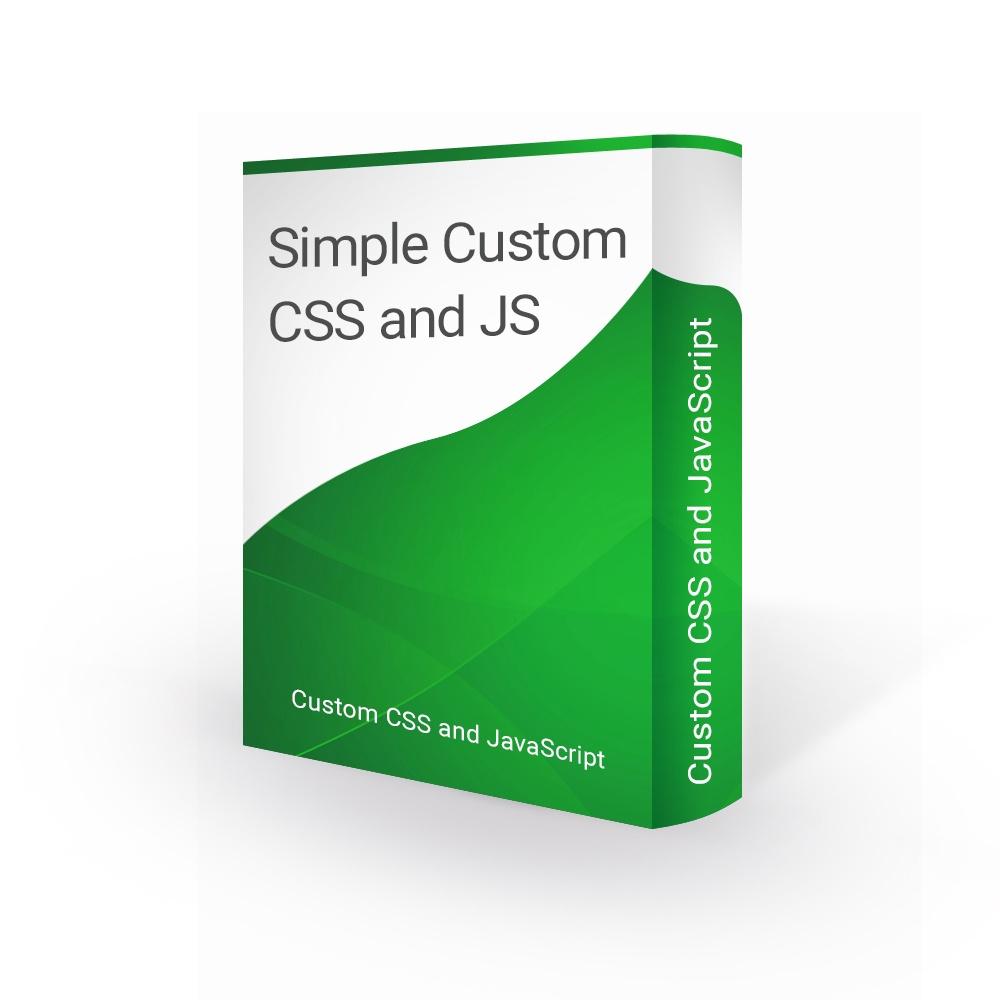 bonpresta Prestashop Extension: Simple Custom CSS and JavaScript