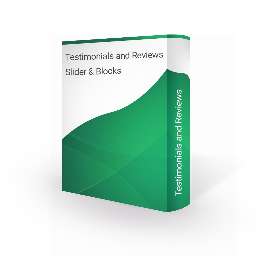 Prestashop Extension: Testimonials and Reviews Slider & Blocks - PrestaShop 1.6 / 1.7