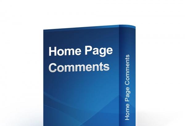 bonpresta Prestashop Extension: Home Page Comments