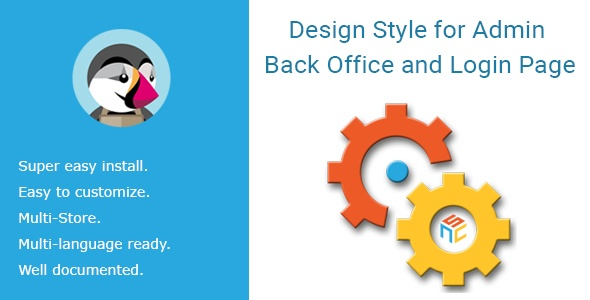 bonpresta Prestashop Extension: Design Style for Admin Back Office and Login Page