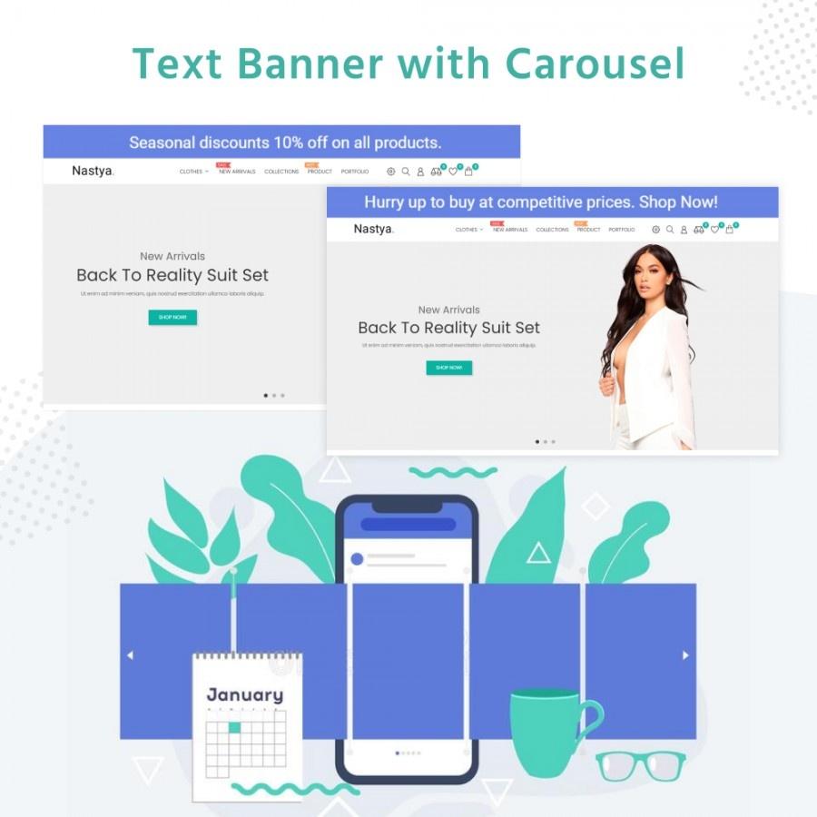 Prestashop Extension: Text Banner with Carousel Prestashop Free Module