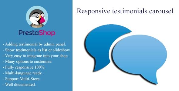 bonpresta Prestashop Extension: Responsive Testimonials Carousel