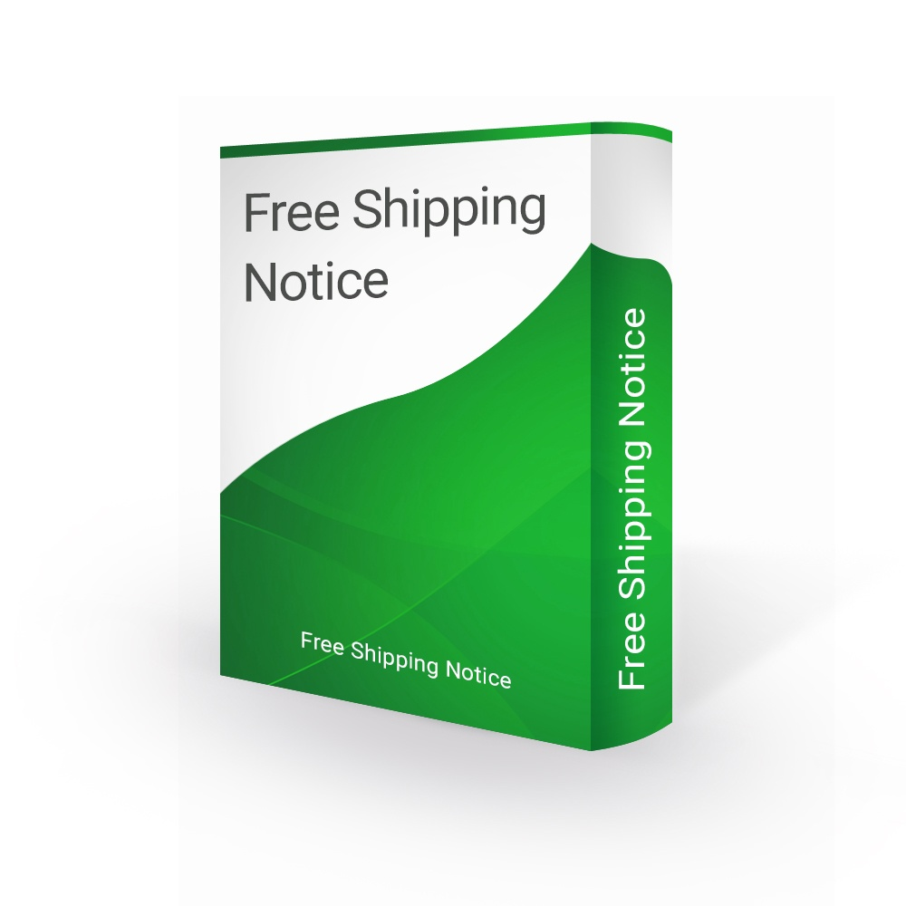 bonpresta Prestashop Extension: Free Shipping Notification