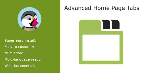 bonpresta Prestashop Extension: Advanced Home Page Tabs
