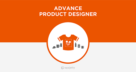 AppJetty Magento Extension: Magento Product Designer Extension