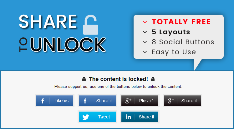 SmartAddons Joomla Extension: Sj Social Locker