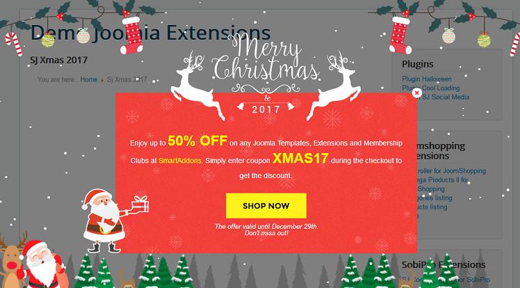 SmartAddons Joomla Extension: Sj Xmas