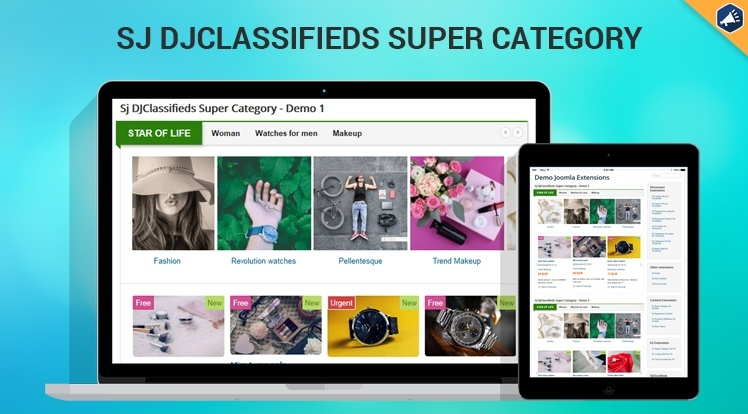 Joomla Extension: Sj DJClassifieds Super Category
