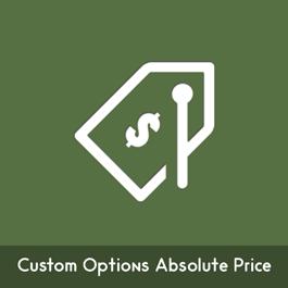 MageComp Magento Extension: Magento Custom Options Absolute Price
