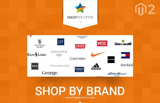 Magesolution Magento Extension: Magento 2 Shop By Brand Magesolution