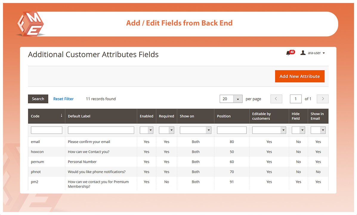 Magento Extension: CUSTOM REGISTRATION FIELDS for Magento 2