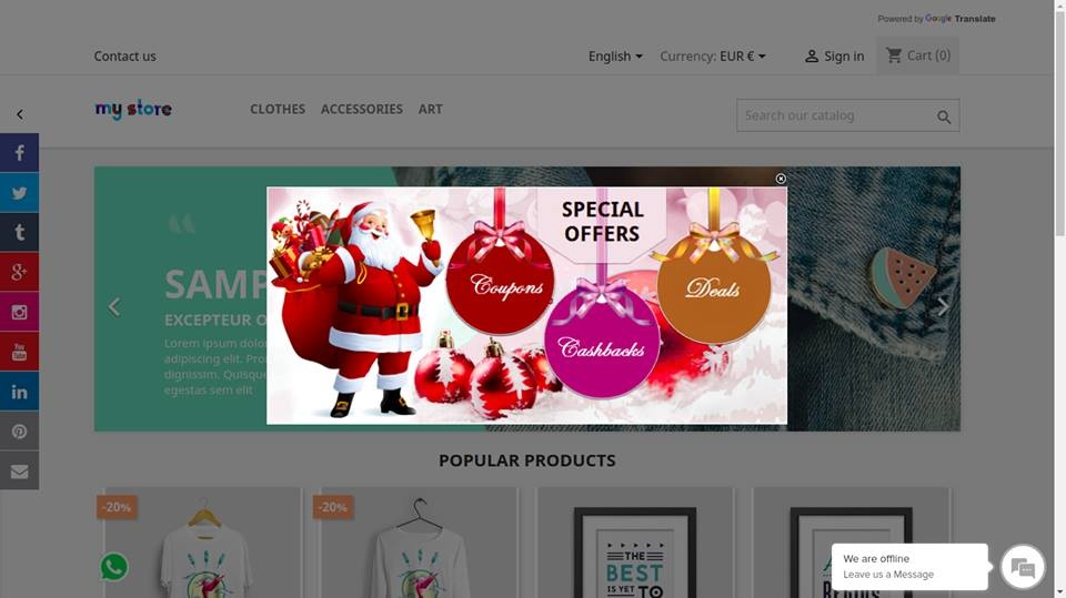 shahab Prestashop Extension: HOME PAGE POPUP ADVERTISEMENT BASED ON SELECTED LANGUAGES