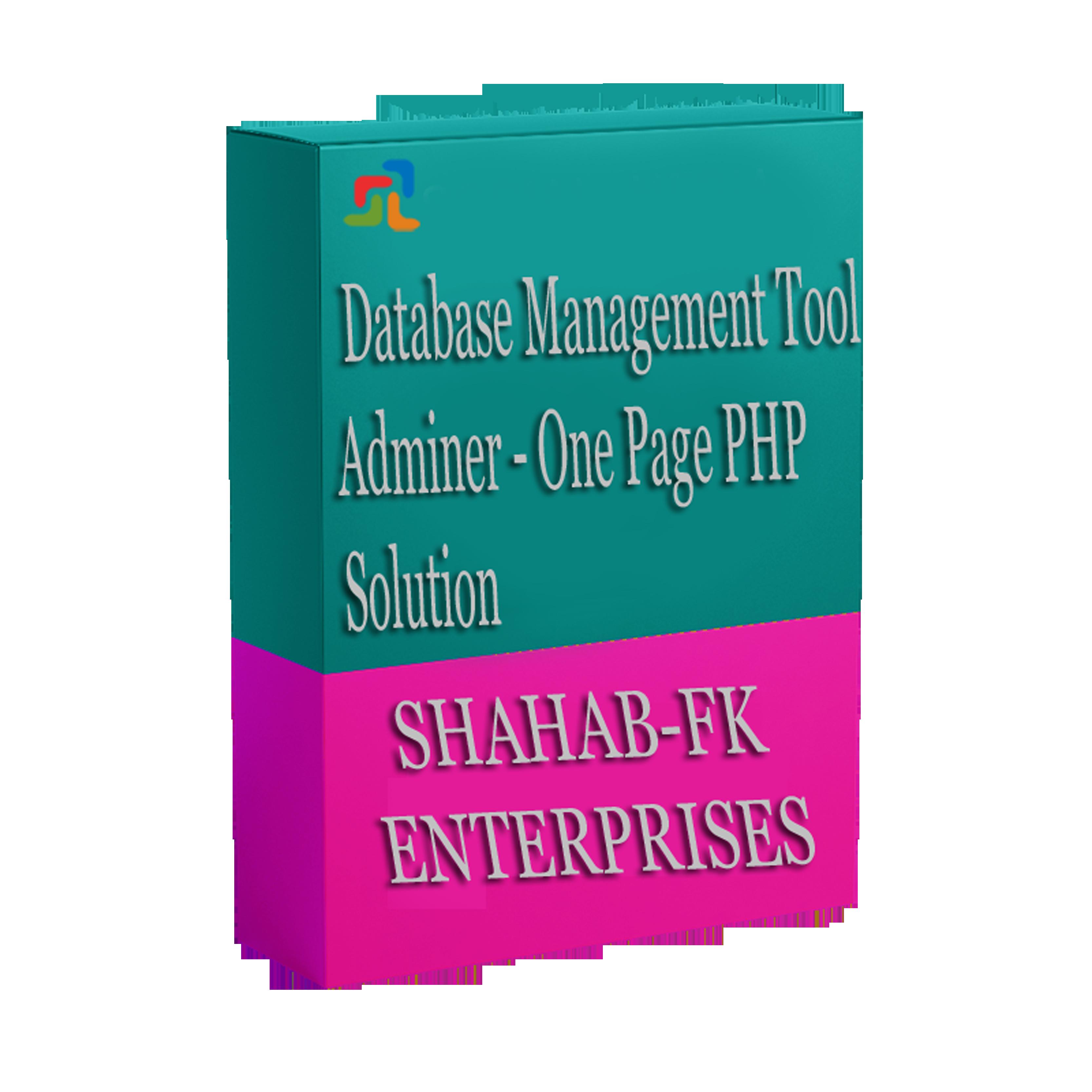 shahab Prestashop Extension: PrestaShop Database Management Tool Adminer Integration