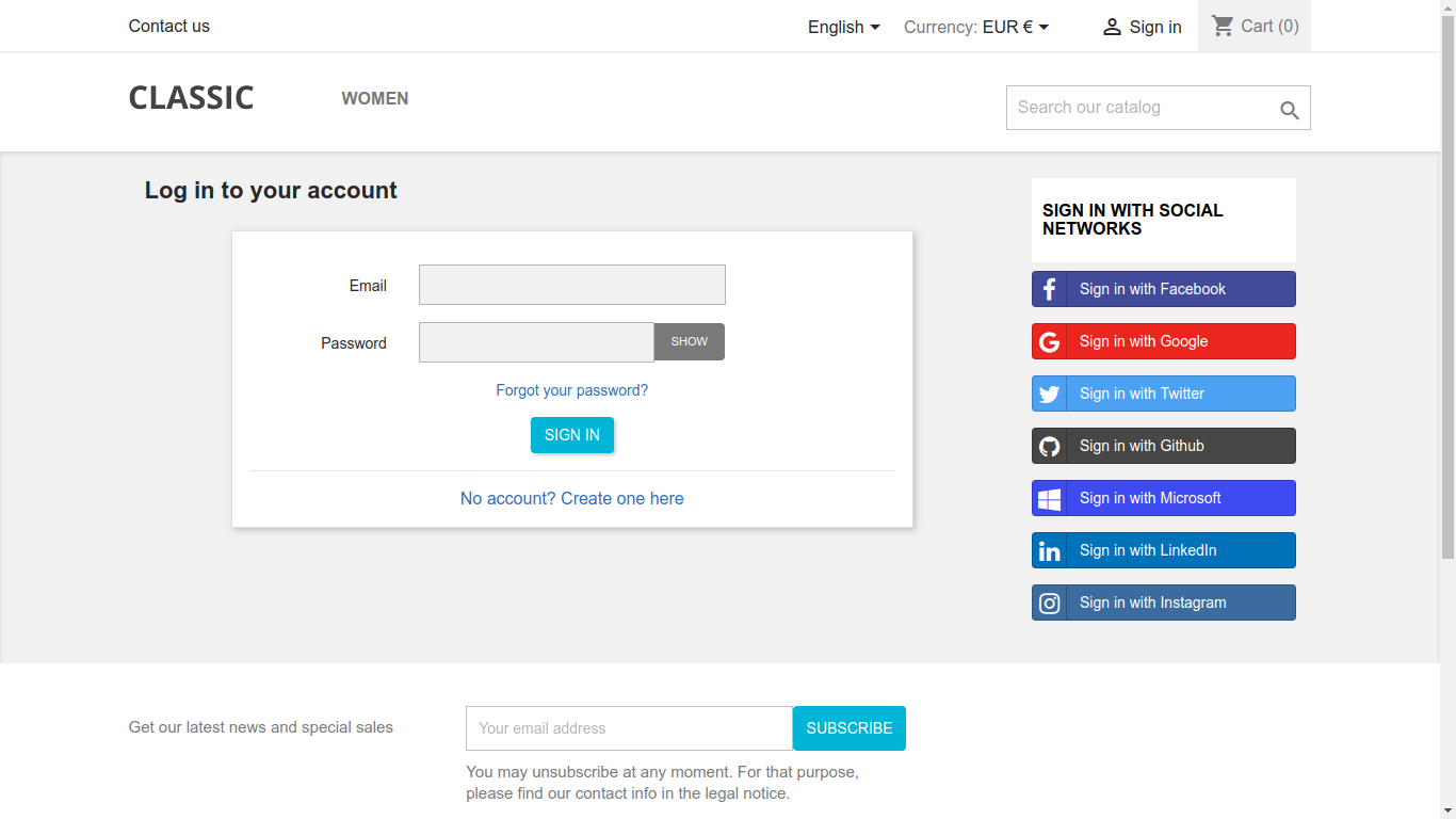 shahab Prestashop Extension: SOCIAL LOGIN – SIGN-IN USING SOCIAL NETWORKS