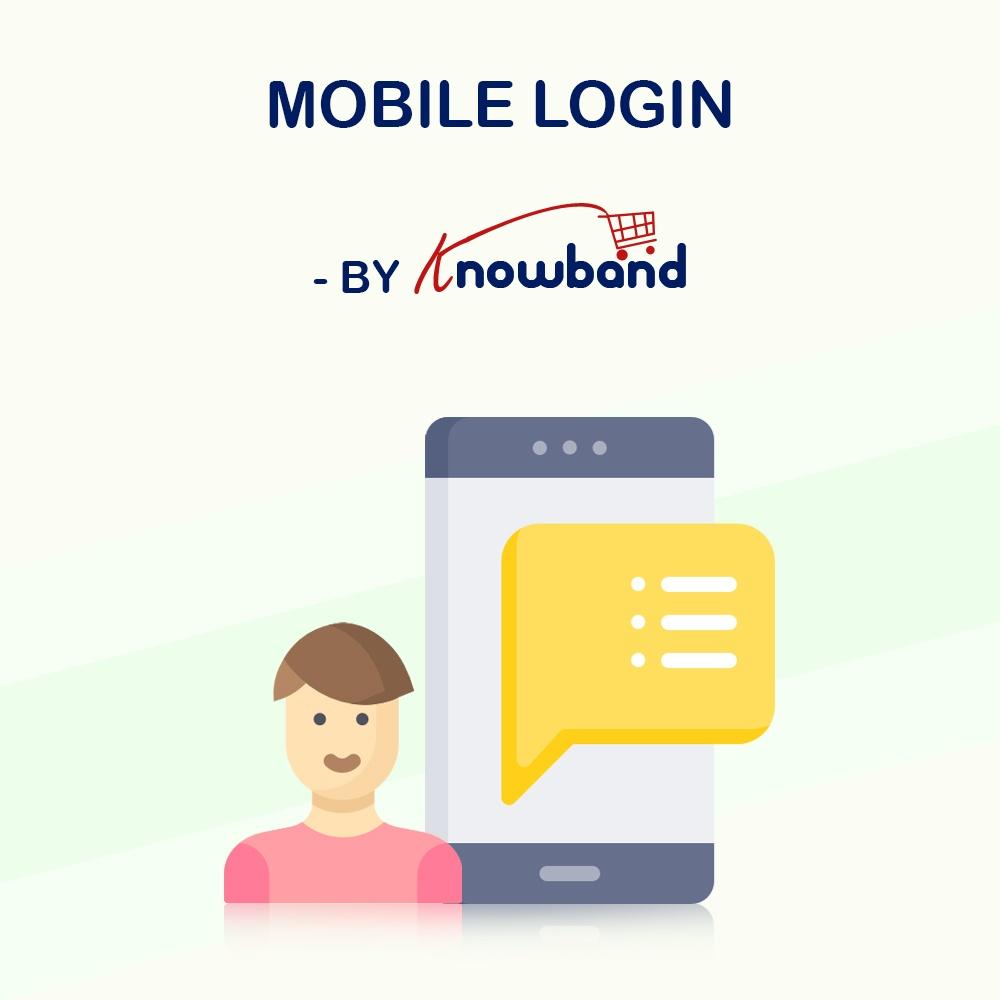 Natalie T Prestashop Extension: Knowband PrestaShop Mobile Login addon | OTP Verification Addon