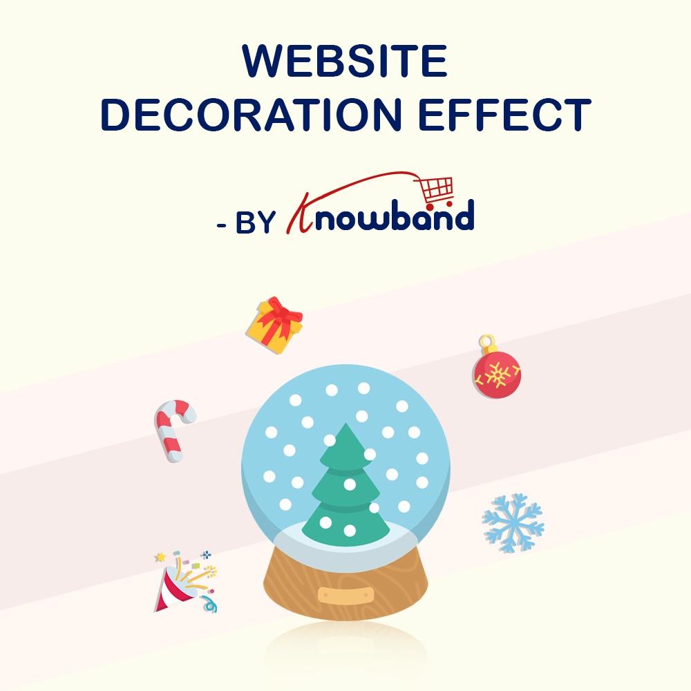 Natalie T Prestashop Extension: Knowband Prestashop Website Decoration Effects Module