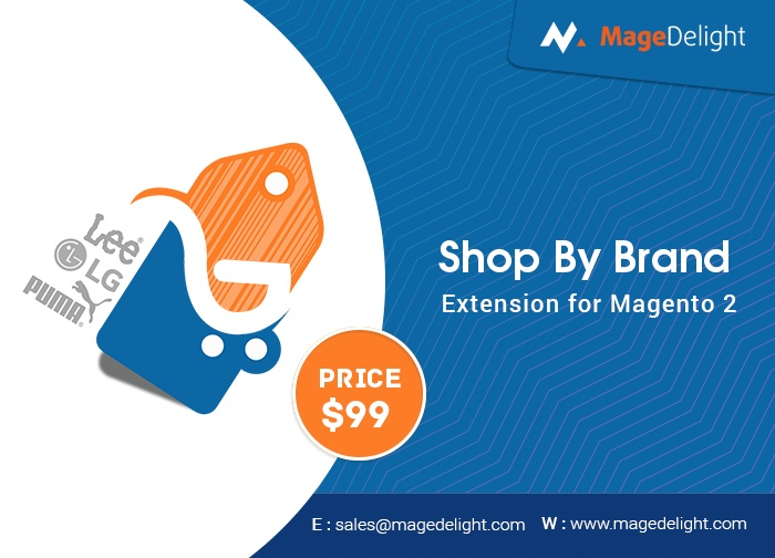 Magedelight Magento Extension: Shop by Brand Magento 2 Extension
