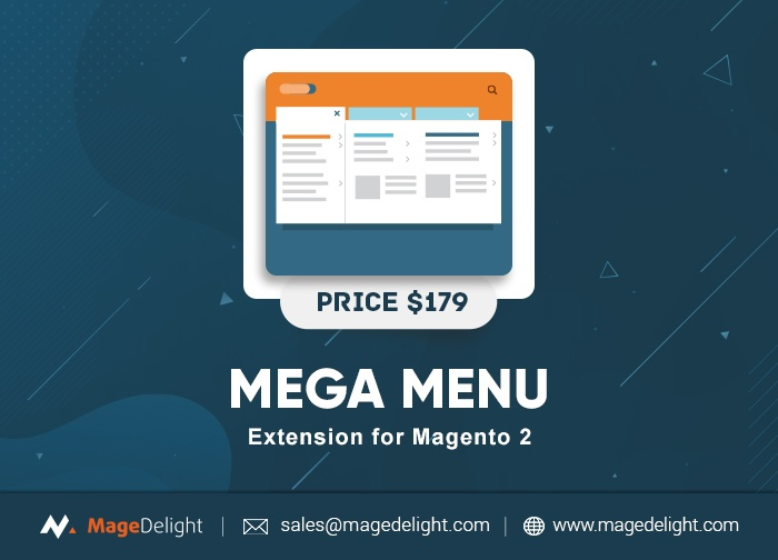 Magedelight Magento Extension: Mega Menu Extension for Magento 2 by MageDelight