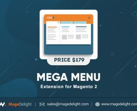 Magento Premium extension - Mega Menu Extension for Magento 2 by MageDelight