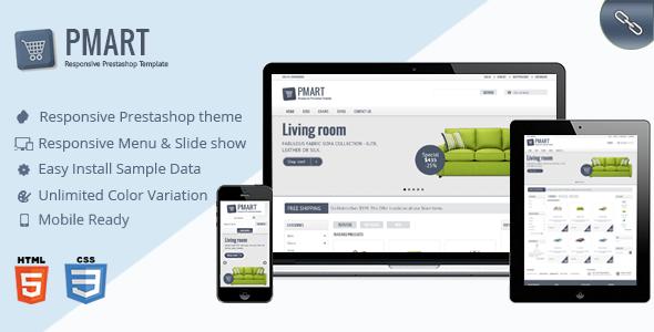 Prestashop News: Pmart - Responsive Clean Prestashop Ecommerce Theme