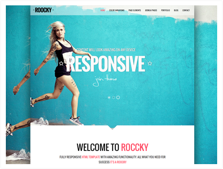Joomla news Your Roocky template. Part 6 of 6: Results