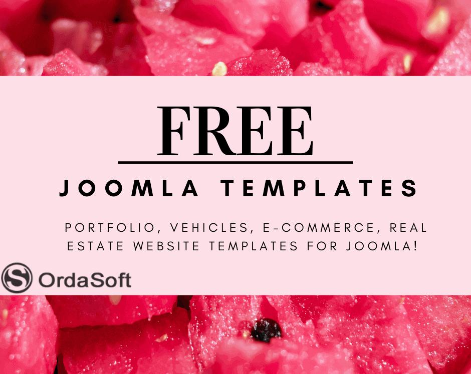 Joomla News: Big summer updates 2021 of free joomla templates from Ordasoft