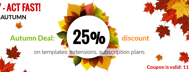 WordPress News: Autumn Deal: 25% discount from OrdaSoft