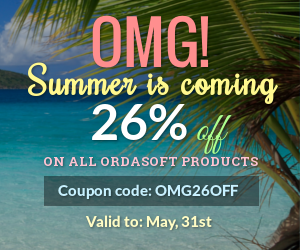 OrdaSoft Joomla News: Summer is coming: 26% off on all OrdaSoft products