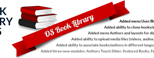 OrdaSoft Joomla News: Book Library v.3.5: overview of added features