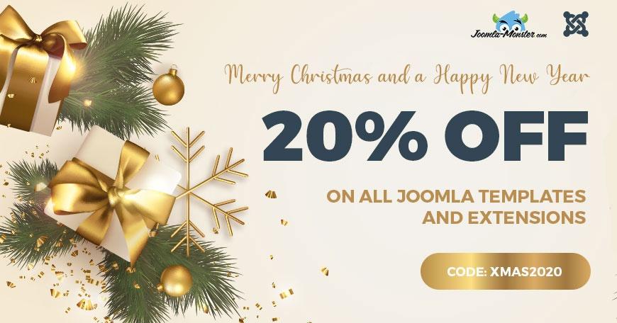 Joomla News: Christmas SALE - Joomla templates and extensions 20% OFF