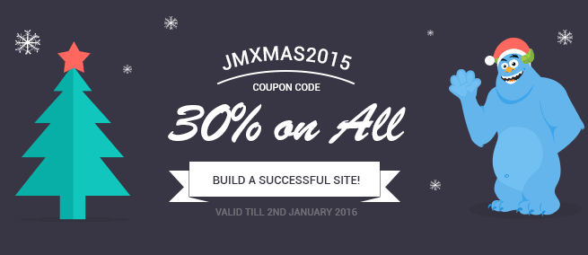 Joomla news Xmas and New Year sale from Joomla-Monster