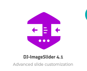 Joomla News: UPDATE DJ-ImageSlider 4.1 with the slide customizer.