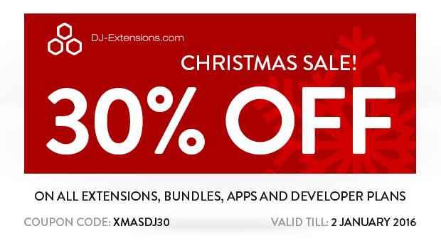 Joomla news Christmas Sale from DJ-Extensions!