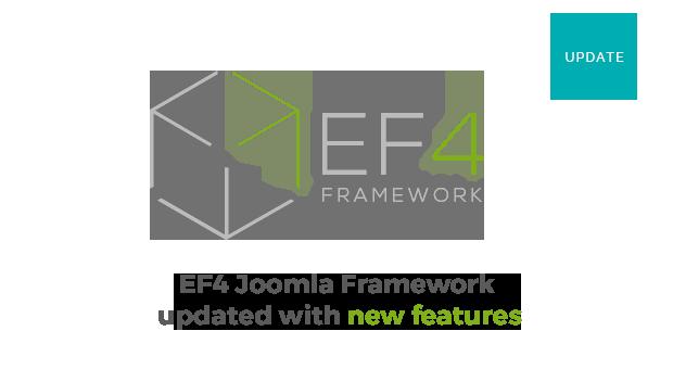 Joomla News: EF4 Framework update