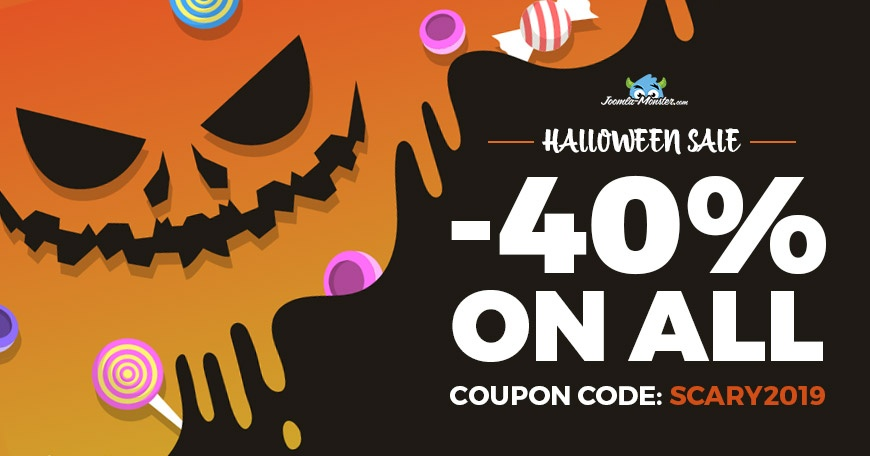 Joomla News: Halloween sale! All Joomla templates and extensions are 40% OFF