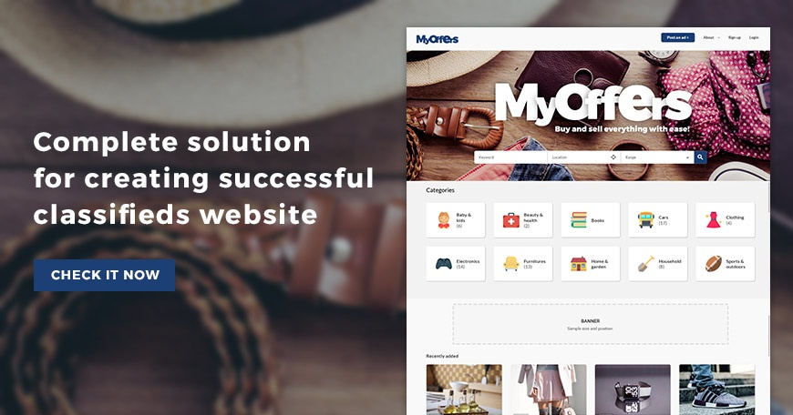 Joomla News: Create classifieds website with MyOffers classifieds Joomla template