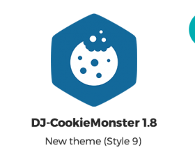 Joomla News: DJ-CookieMonster 1.8 Update brings a new theme.