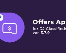 Joomla News: Offers App for DJ-Classifieds updated to 3.7.9 version