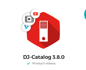Joomla News: Add videos to products in DJ-Catalog (3.8.0 Update)