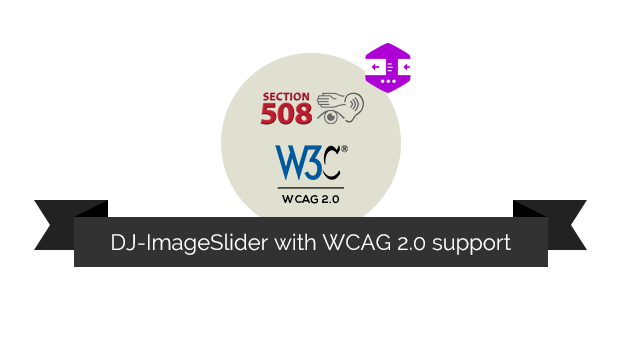 Joomla news DJ-ImageSlider supports WCAG and Section 508