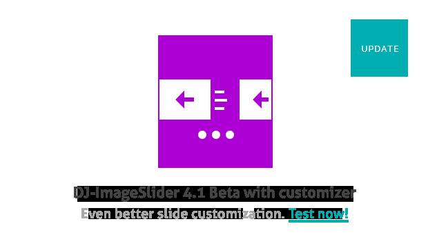 Joomla News: DJ-ImageSlider 4.1 Beta