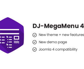 Joomla News: DJ-MegaMenu 4.3 with a new theme, new features, Joomla 4 compatibility + new Demo Page