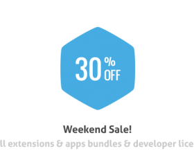 News Joomla: Weekend Sale! Extensions are 30% OFF
