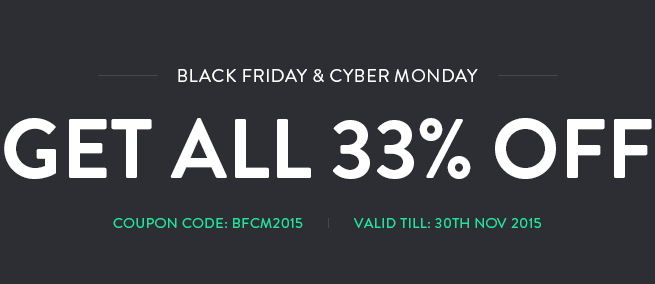 Joomla news Black Friday & Cyber Monday promotion from Joomla-Monster! Get ALL 33% OFF!