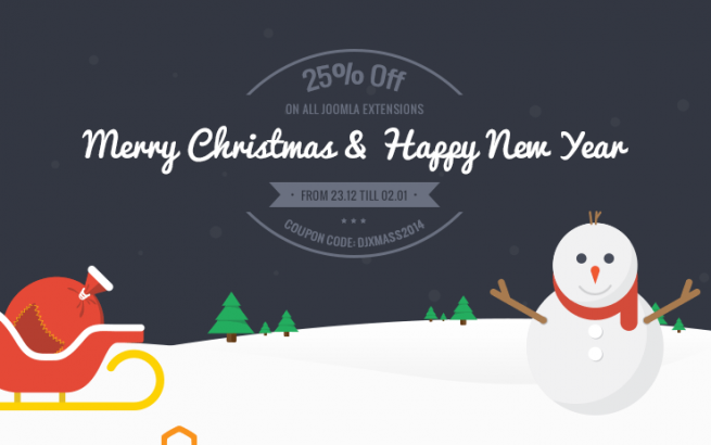 Joomla news New Year 25% Discount from DJ-Extensions!